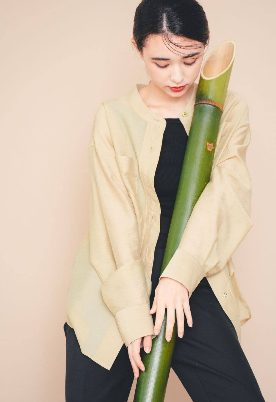 話題のエコ素材、竹繊維を使用。
