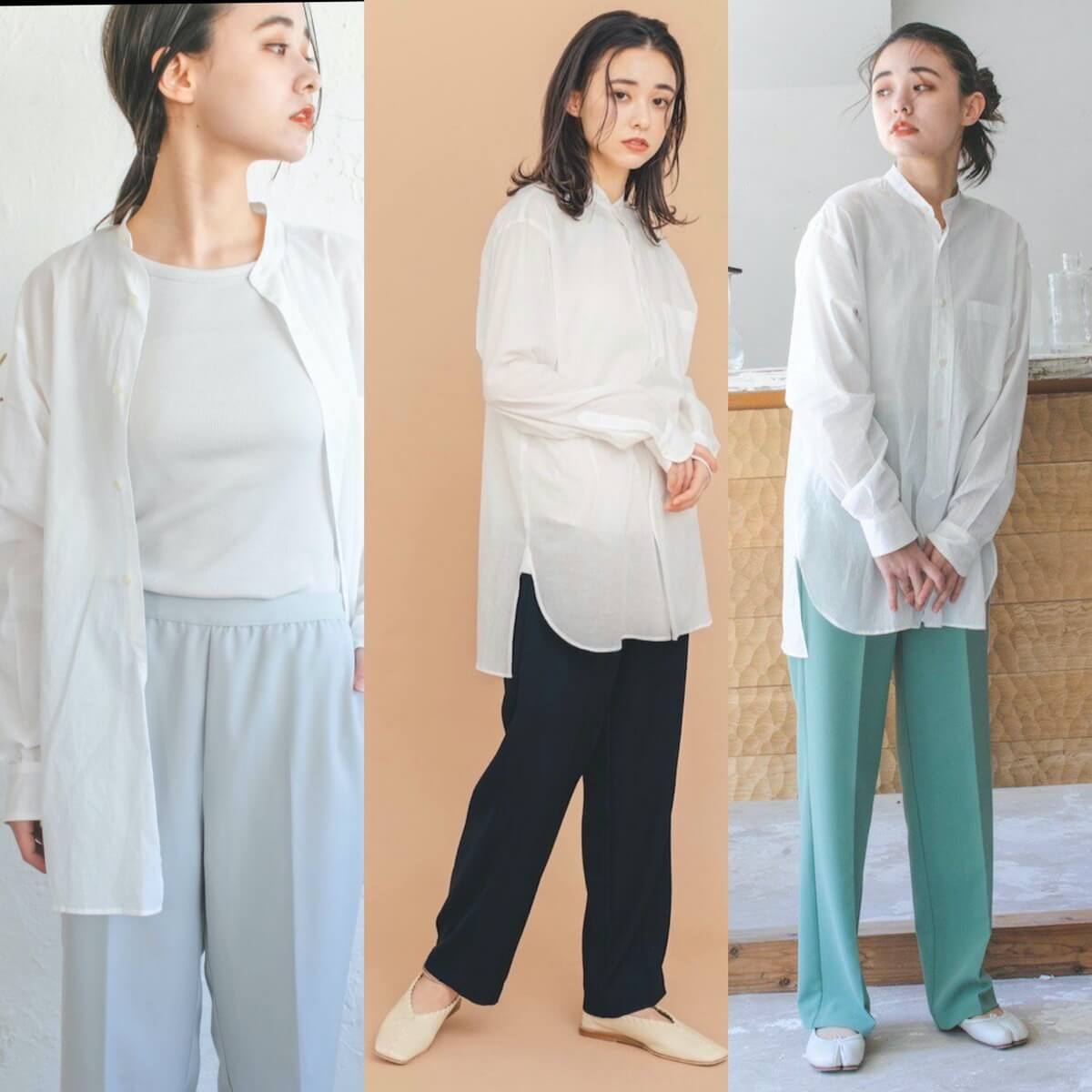 MERCI(メルシー)オーガニックコットンレイヤードシャツ